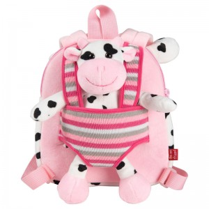 Connie Cow backpack with plush toy 25cm