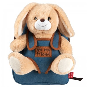 Bob Bunny backpack with plush toy 27cm