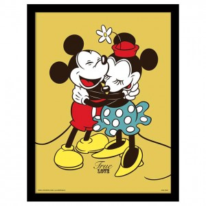 Disney Mickey Minnie Love framed