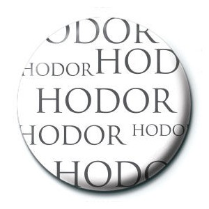 Game of Thrones Hodor button badge