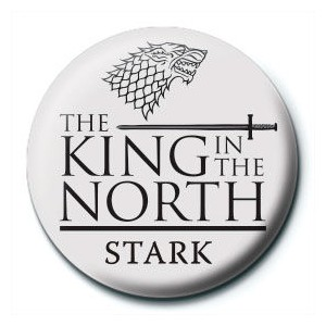 Game of Thrones King in the North button badge