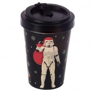 Original Stormtrooper Christmas bamboo travel mug