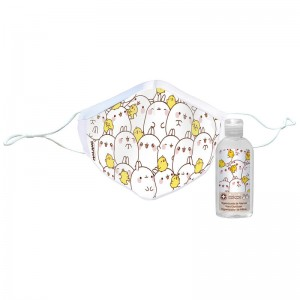Molang Characters reusable face mask + hydroalcoholic gel 100ml