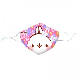 Molang Flowers reusable face mask