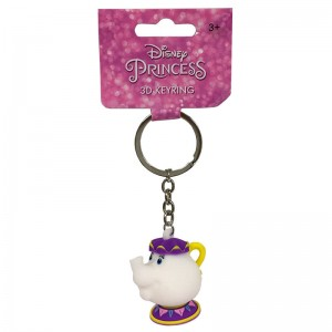Disney the Beauty and the Beast Mrs Pots keychain