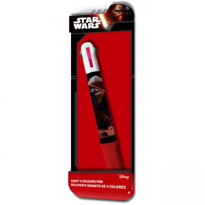 Boligrafo Star Wars Episodio VII Jumbo 4 colores