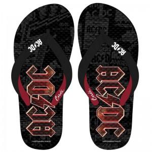 ACDC adult premium flip flops