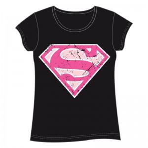 DC Comics Superman black adult woman t-shirt