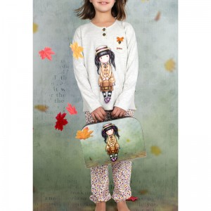 Gorjuss School Girl tween pyjama suitcase
