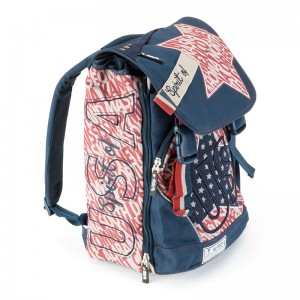 Spirit USA Blue backpack with flap