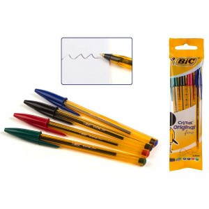 Bic cristal fine assorted colors pen pack of 4