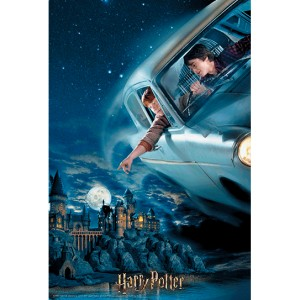 Harry Potter Harry and Ron in Ford Anglia Prime 3D puzzle 300pcs