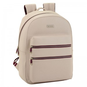 Moos Capsula Beige laptop backpack 44cm
