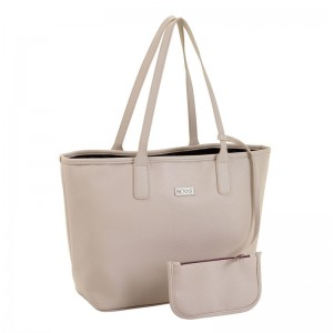 Moos Capsula Beige bag with wallet