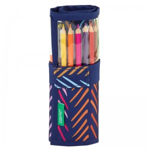 Benetton Spina filled pencil case roll-up 27pcs