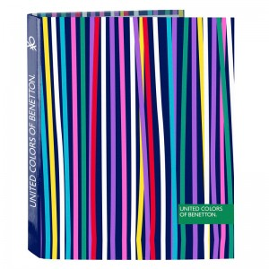 Benetton Color Lines A4 cardboard ring binder
