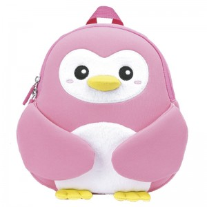 Penguin pink neoprene backpack 30cm