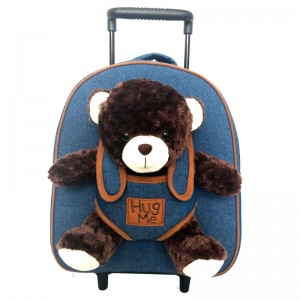 Hug Me trolley with Bear plush toy 33cm