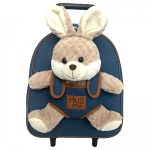 Hug Me trolley with Rabbit plush toy 33cm