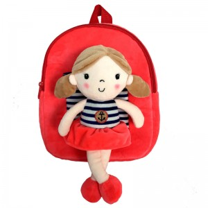 Hug Me backpack with red doll 28cm