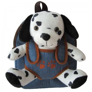 Hug Me backpack with Dalmatian plush toy 28cm