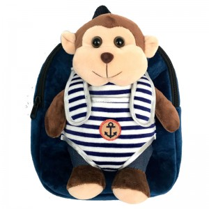 Hug Me backpack with Monkey plush toy 28cm