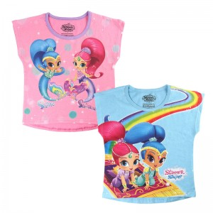 Shimmer and Shine set 2 tshirts