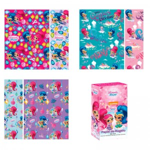 Shimmer and Shine assorted gift wrap roll 70x200cm