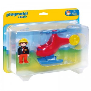 Playmobil 1.2.3 Fire Helicopter