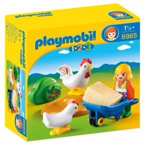Playmobil 1.2.3 Farmer with chikens