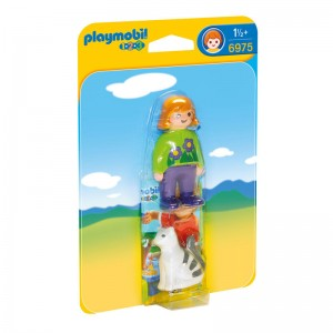 Playmobil 1.2.3 Woman with cat