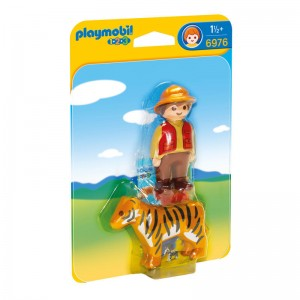 Playmobil 1.2.3 Trainer with tiger