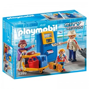 Playmobil City Action Check-in family