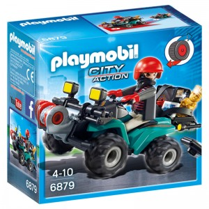 Playmobil City Action Thief with Quad and loot