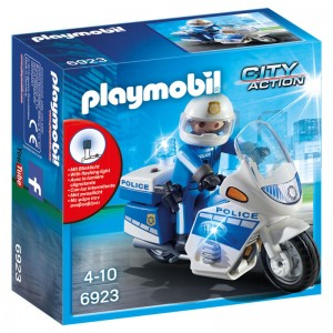 Playmobil City Action Police with motorcycle and LED