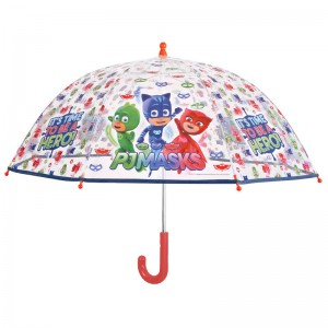 PJ Masks manual transparent bubble widproof umbrella 45cm