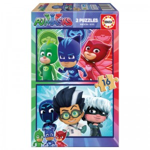 PJ Masks wood puzzle 2x16pcs