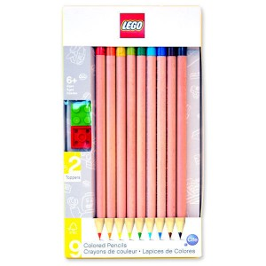 Lego colouring pencils pack of 9 + 2 toppers