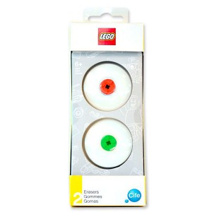 Lego eraser pack of 2 + 2 Lego pieces