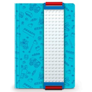 Lego blue diary with part for construction