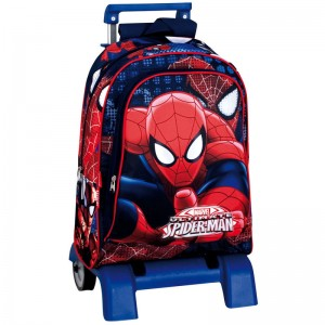 Backpack with trolley Spiderman Marvel Eyes 43cm