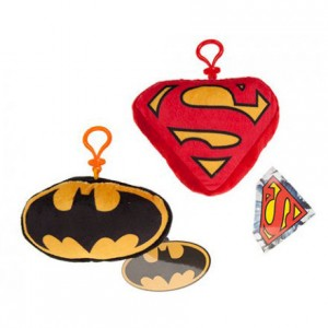 DC Batman Superman assorted clip-on plush toy 15cm