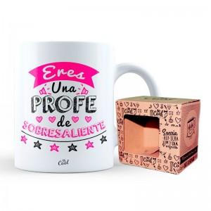 Outstanding Teacher pink mug