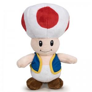 Mario Bros Toad soft plush toy 30cm