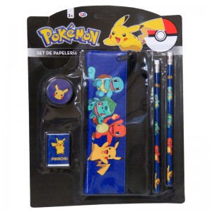 Pokemon Pikachu stationary set 5pzs