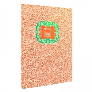 Paisley One A4 orange notebook
