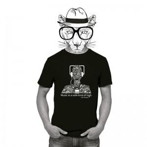 Music black tshirt