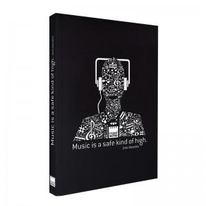 Music A5 black book