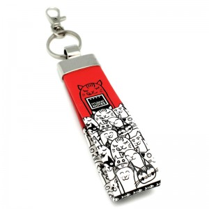 Cats Out keyring