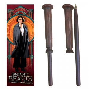 Fantastic Beasts Porpentina Goldstein wand pen and bookmark